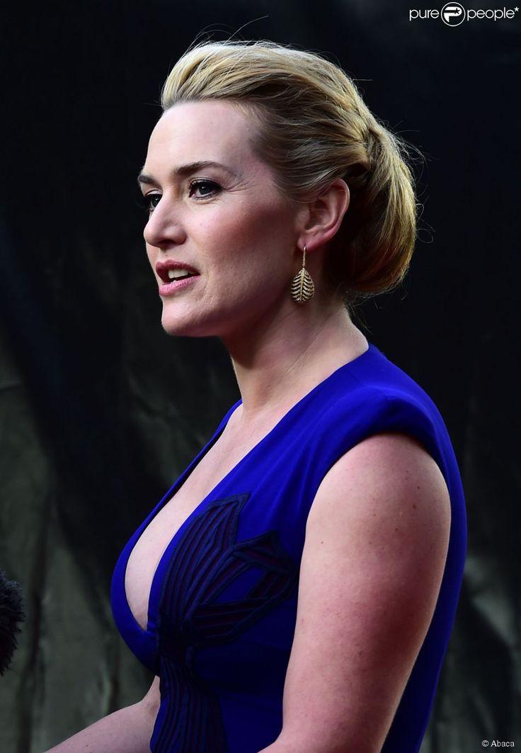 """Kate Winslet (robe Stella McCartney) à la première """"A Little Chaos"""" à Londres, le 13 avril 2015."""