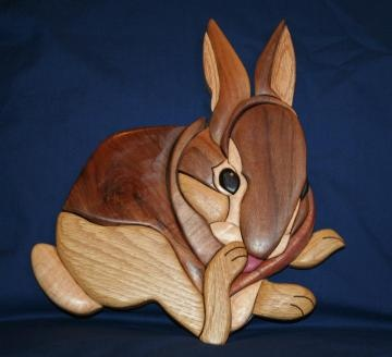 Intarsia Wood Rabbit by intasiaworks for $60.00