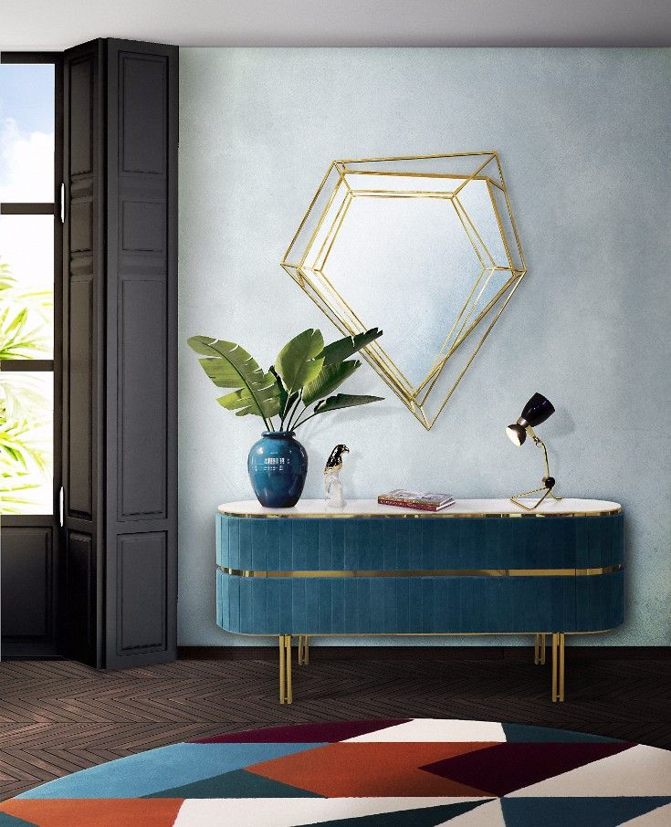 Curious? Access http://essentialhome.eu/ to find the best blue interior design inspirarions for your new project! Micentury and still modern lighting and furniture