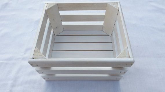 Hey, I found this really awesome Etsy listing at https://www.etsy.com/listing/122076192/distressed-white-wooden-storage-crate
