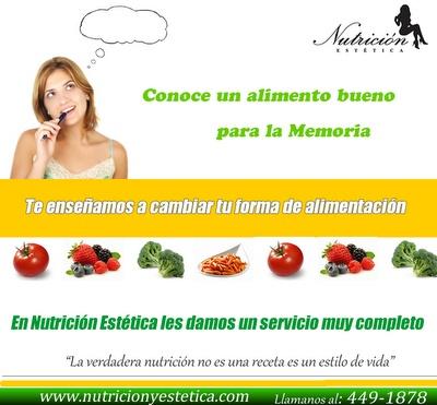 Conoce un alimento bueno para la memoria. NUTRICIÓN ESTÉTICA