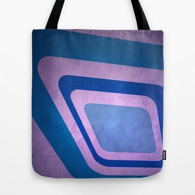 In Retro Blue Tote Bag by Fine2art - $22.00