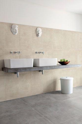 Bathroom Porcelain Stoneware Floor Tile Concrete Look Blend Grigio Ceramica Fioranese