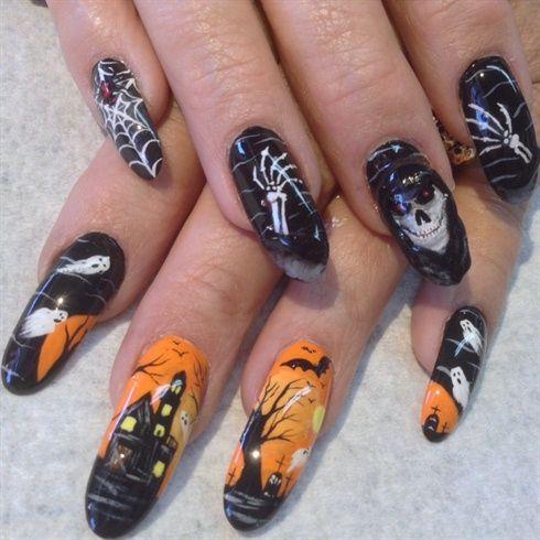 halloween nails fingernailjunky