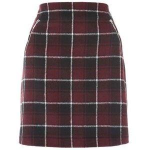 Womens Fluffy Check Skirt