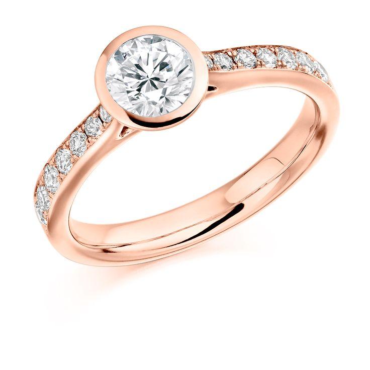 Rubover Set 0.50ct Round Brilliant Cut Diamond Solitaire Ring | Reppin & Jones Jewellers