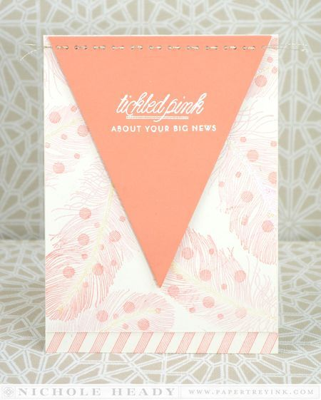 Tickled Pink Card by Nichole Heady for Papertrey Ink (January 2014)