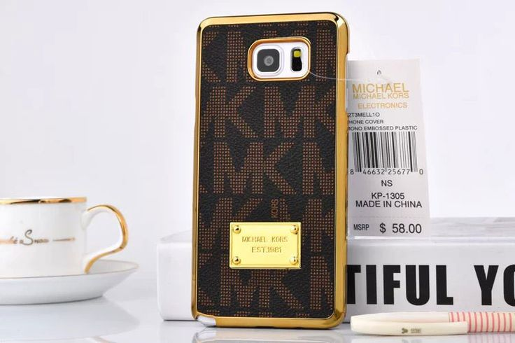 Hot Michael Kors Note 5 Case Cover Cover Brown