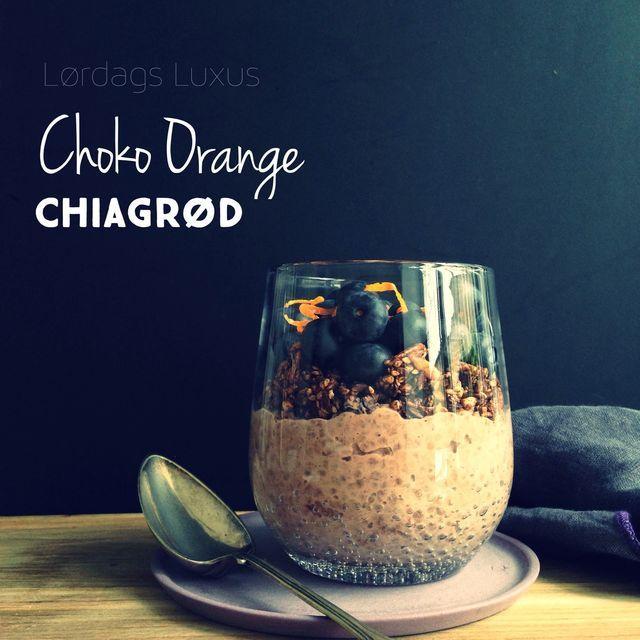 Dessert til morgenmad, anyone? Choko/orange kombinationen og jeg, er slet ikke færdige med hinanden endnu. Næ, nu har jeg også givet en chiagrød smag af det, og det kan man bestemt godt være bekendt s
