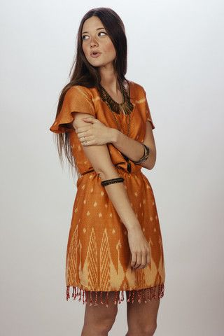 Rayong Dress. Ethically made using a gorgeous tribal embroidered design.
