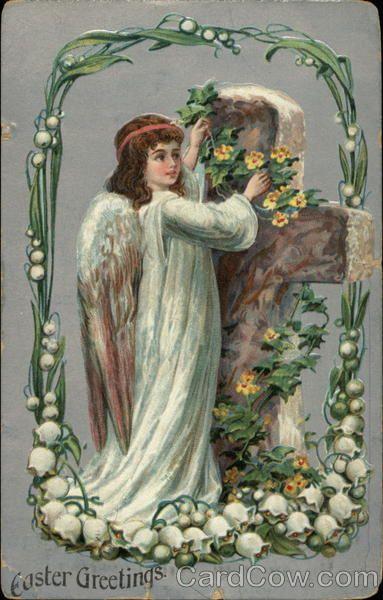 Easter Greetings Crosses Postmark/Cancel: 1909 Apr-5   Clinton, MO