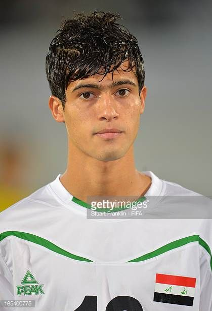 Mohammed Salam of Iraq looks on during the FIFA U17 World Cup group F match between Iraq and Sweden at Khalifa Bin Zayed Stadium on October 19 2013...