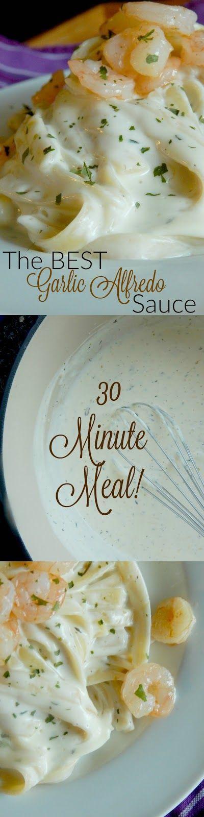 the best garlic alfredo sauce (http://sweetandsavoryfood.com)