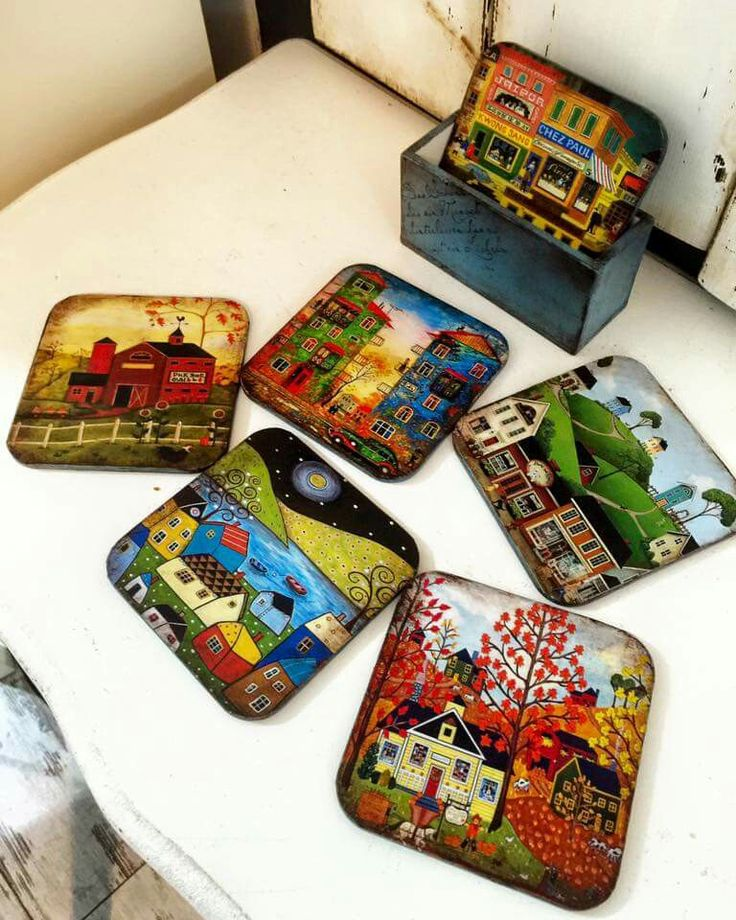 296 Best Images About Decoupage Coasters On Pinterest