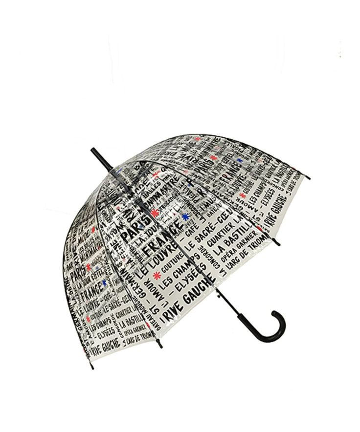 Take a look at this Clear & Black 'France' Birdcage Umbrella today!