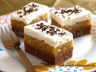 Jablkový koláč so šľahačkou - recepty