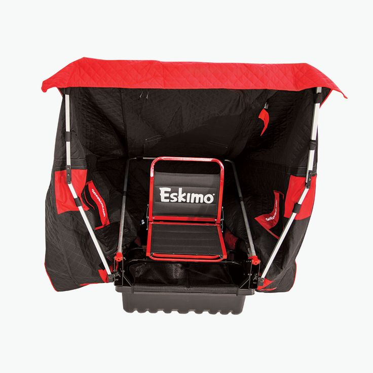 Eskimo – Reliable Ice Fishing Shelters, Augers & Gear - Eskimo Wide1 Inferno Sled-Based Flip Shelter