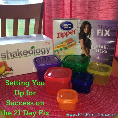 A quick start guide to help you get organized for using the 21 Day Fix