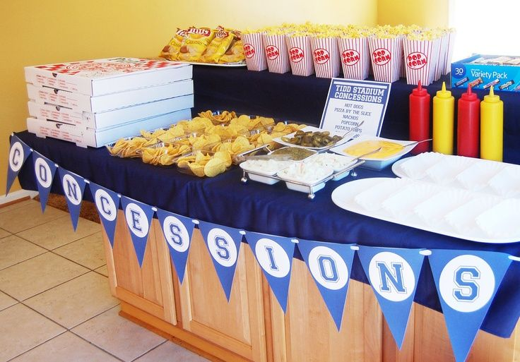 All Sports Table Decorations Photograph