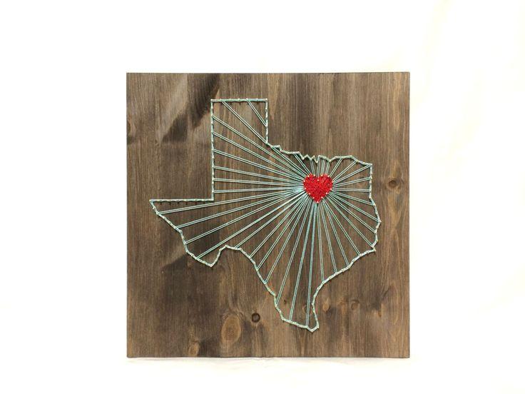 Texas String Art States Decor Turquoise Texas Wall Art Home