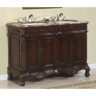 'Hestia' Traditional Marble-top Double Vanity