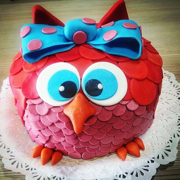 """23 Me gusta, 1 comentarios - Muri Gourmet (@murigourmet) en Instagram: """"Una #torta de #buho #owlcake para 20 personas hecha con el #❤️ chocolate manjar y panqueque de…"""""""