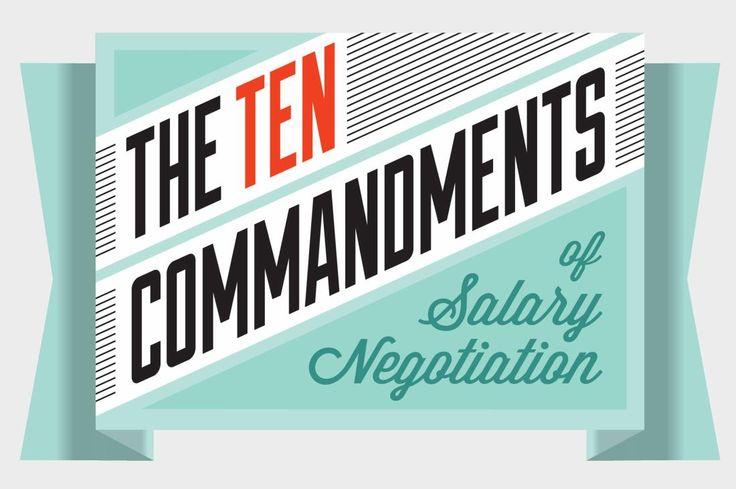 The Ten Commandments of Salary Negotiation graphic treatment