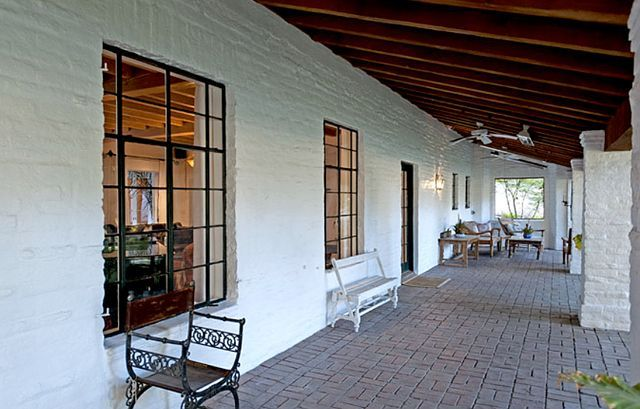 It's Complicated House - Hacienda Style Patio with French Pane windows