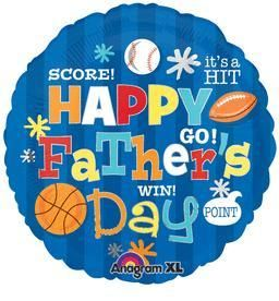 Happy Fathers Day Sports - Non-Pkg Foil Balloon (5ct)