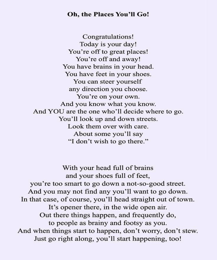 "Love it! ""Graduation Poem"" by #DrSeuss #DrSeussDay"
