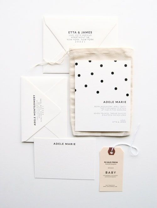 simple polka dot invitations