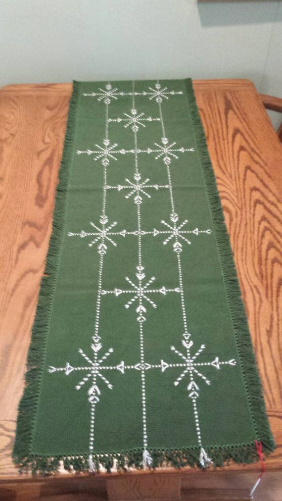 "Swedish Weaving Holiday Table Runner 50""x15""                                                                                                                                                      More"