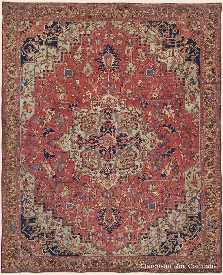 Persian Heriz Serapi Rug, X Quarter Century, Claremont Gallery