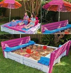 DIY Sand Box Using Wooden Pallets - Find Fun Art Projects to Do at Home and Arts and Crafts Ideas