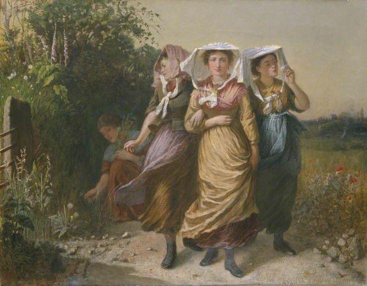 Osborn, Emily, (1828-1925), The Bal Maidens, 1870, Oil