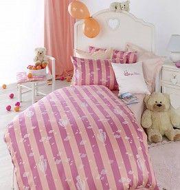 Curt Bauer Kinderbettwäsche Ballon Des.2500 - 0117 orange-pink