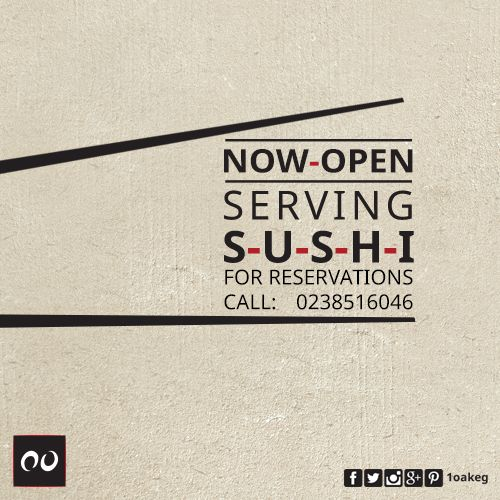 Now Open! Walk-ins are welcome for reservations: 02 38516046