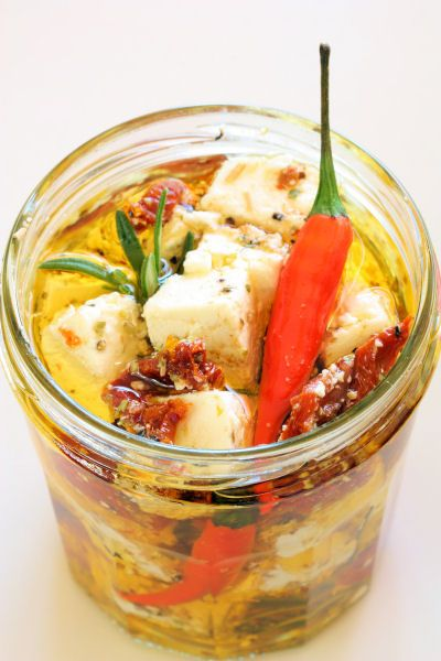 marinated feta in jar 8159 R by nicisme, via Flickr