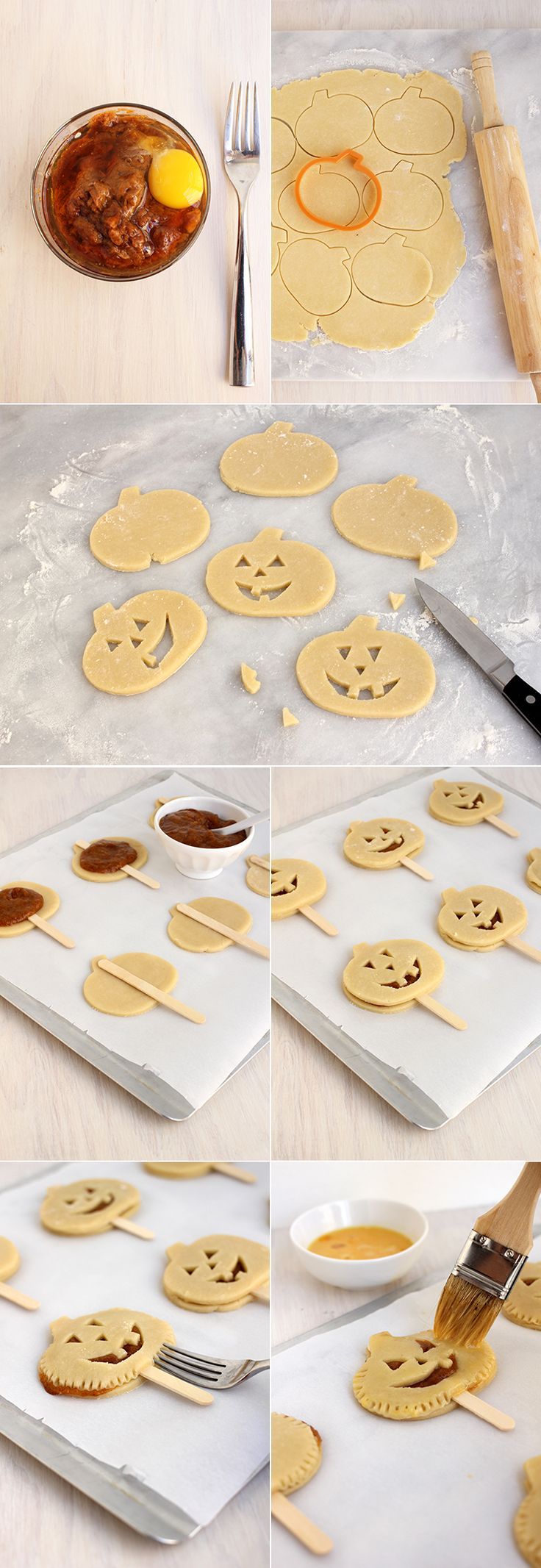 These pumpkin pie pops are PERFECT for Thanksgiving! Just leave out the face!!! xo
