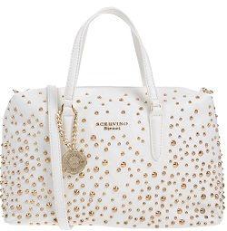 SCERVINO STREET Damen #Handtaschen #Elfenbein  Mittel Logo #Nieten