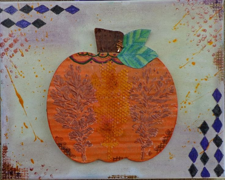 Another 2013 Creative Inspirations Paint Maft. dt  team project. I added Some beads to the stem. Lots of paint and stencil fun on this Fall canvas.