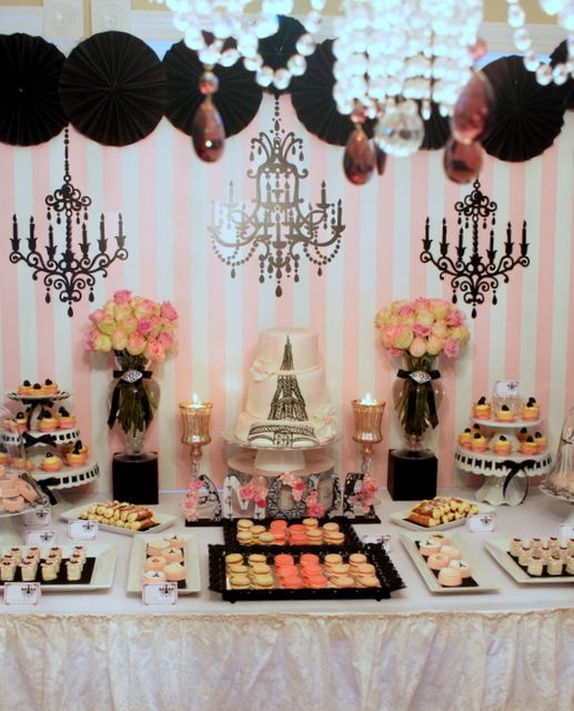vintage parisian bridalwedding shower party ideas
