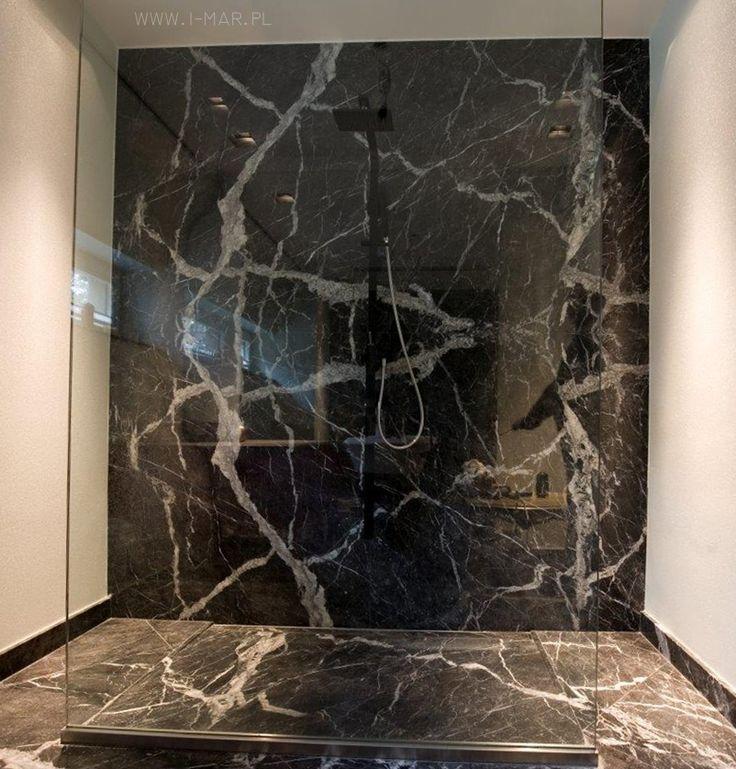 Łazienka wykonana z Włoskiego marmuru Grigio Carnico. / Bathroom made of Italian marble #GrigioCarnico. # @imarpolska Przedsiębiorstwo Kamieniarskie.
