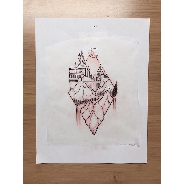 Hogwarts tattoo sketch
