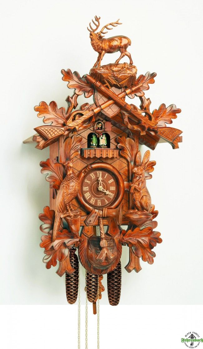 Traditional Cuckoo Clock With Stag $1,295.00