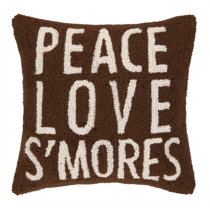 found it at wayfair peace love su0027mores hook wool throw pillow
