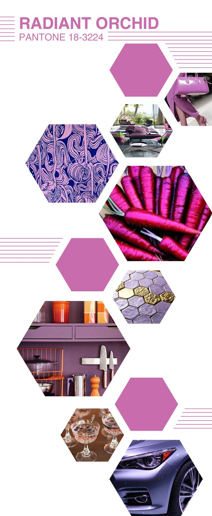 34 best Radiant Orchid color of the year 2014 images on Pinterest ...