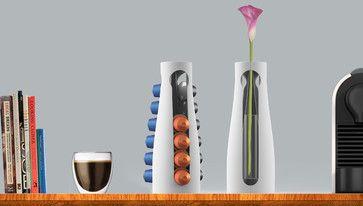 Capsule vase for Nespresso pads