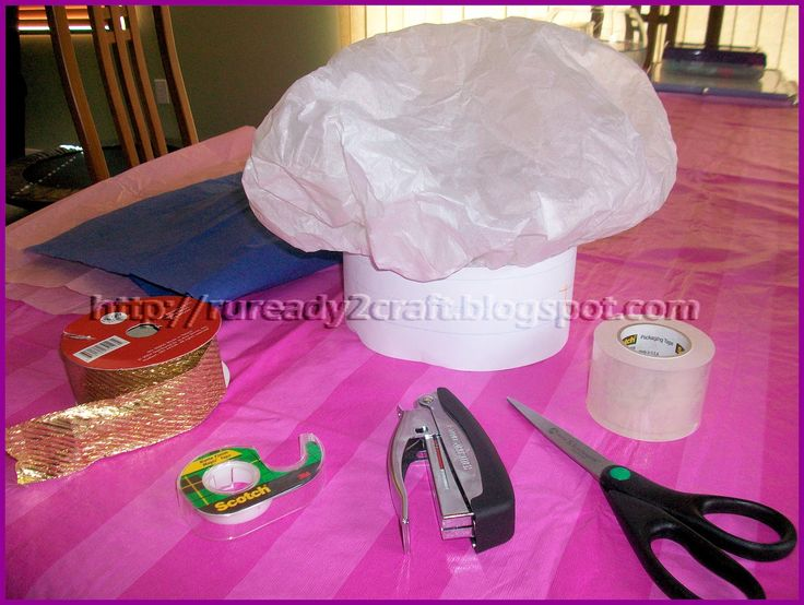 Make a chef's hat for the children to role play with
