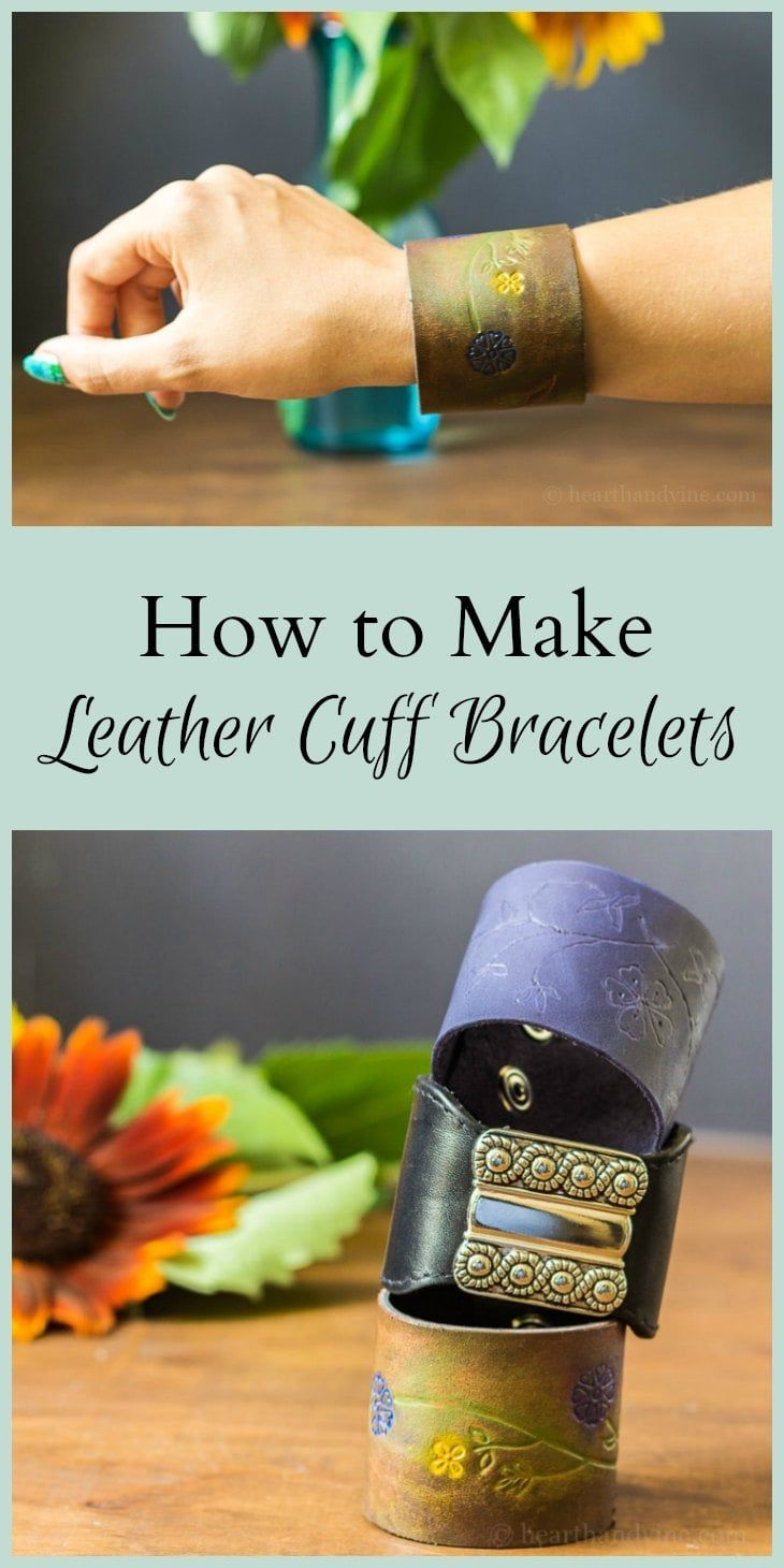 DIY leather bracelets are a fun tutorial that shows you how to make elegant …   – DIY Crafts